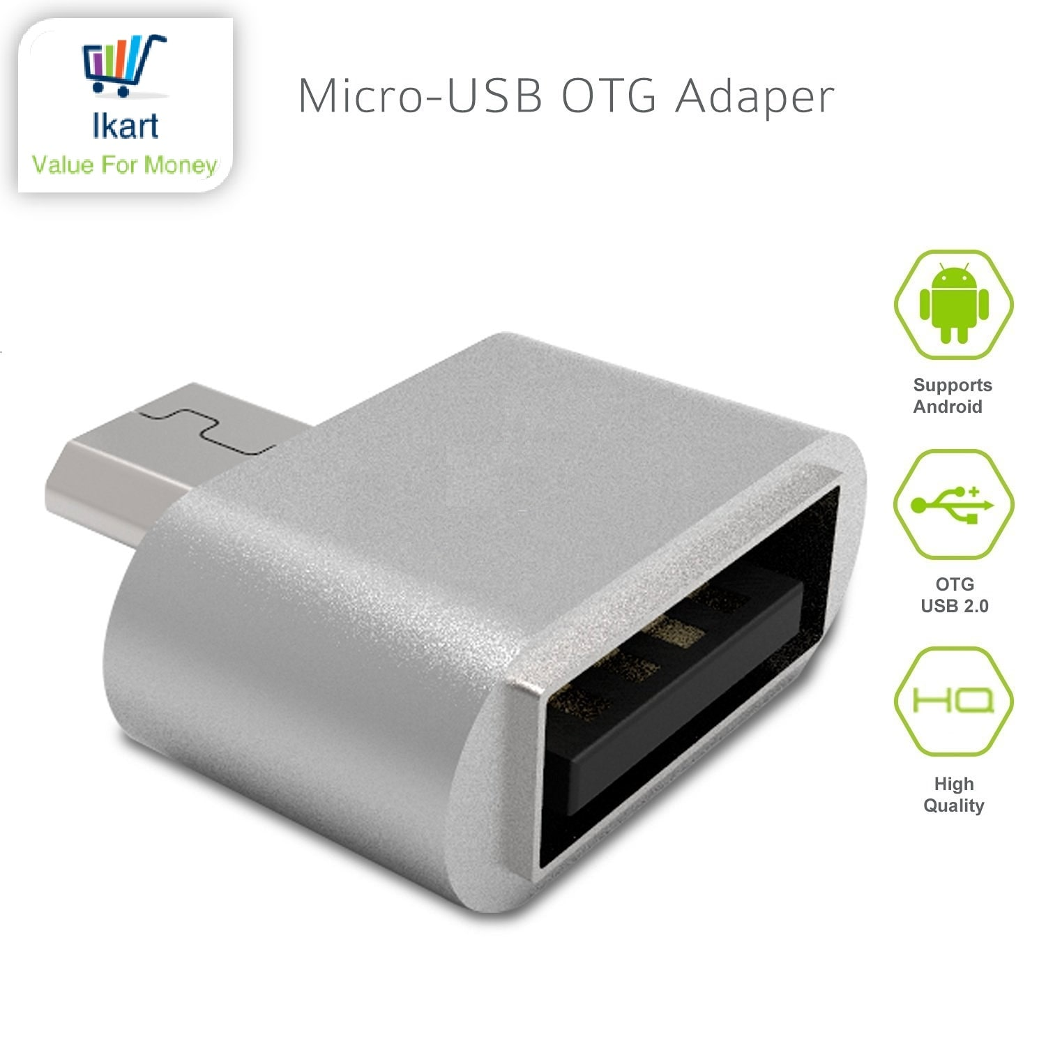 Micro USB To USB A Female OTG Adapter For OTG Supported Smartphones IKART by Dreamshop