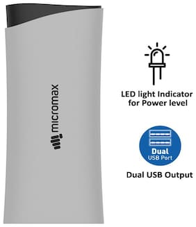 Micromax 10400 mAh Power Bank - Black