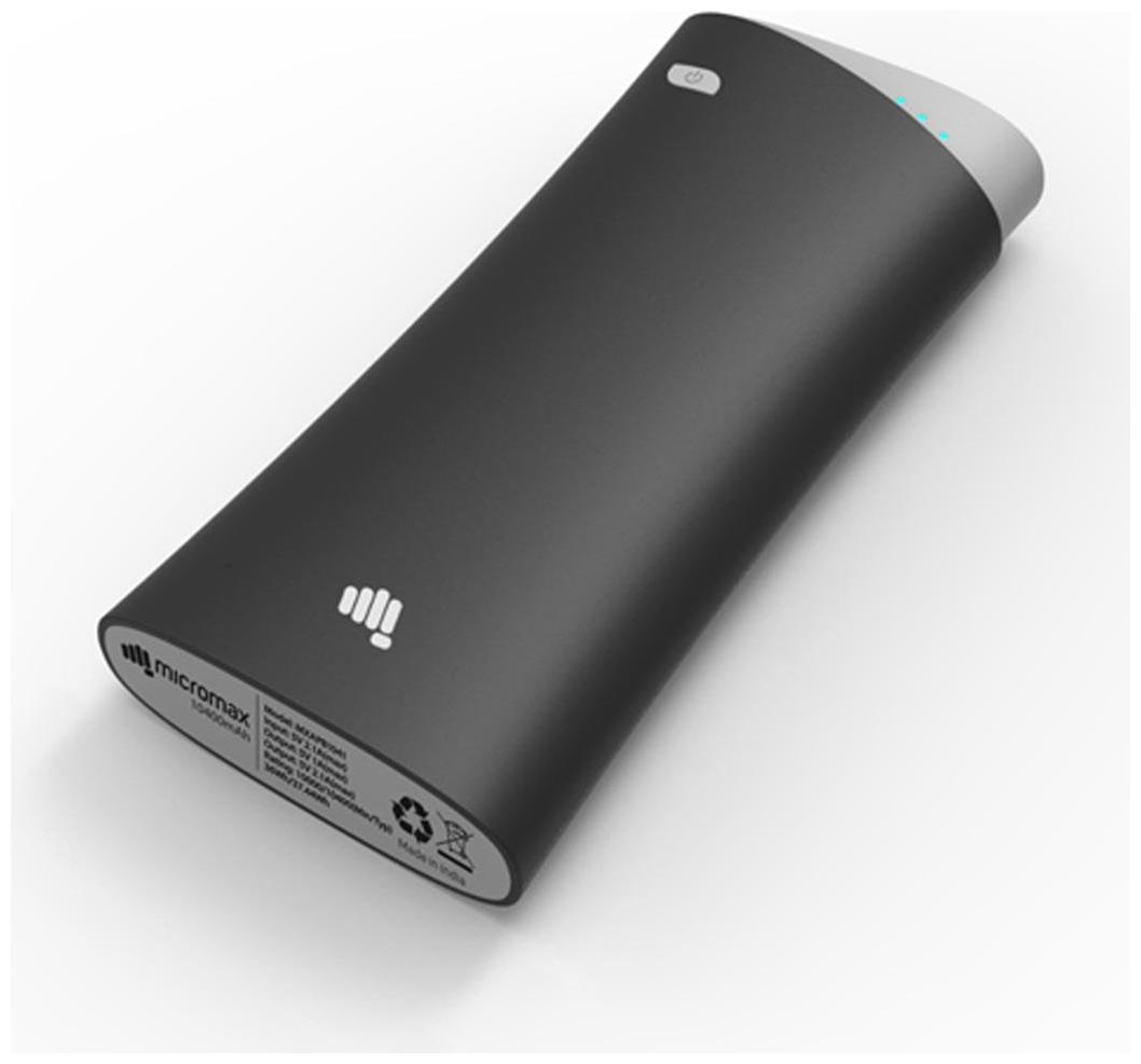 Micromax MXAPB_1300 13000 mAh Power Bank   Black by Mobile Solution