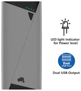 Micromax PBAPB1041GRB 10400 mAh Power Bank - Grey
