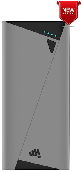 Micromax MXAPBKA100 Grey 10400 mAh Power Bank - Grey