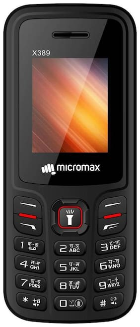 Micromax X389 (Black & Red)