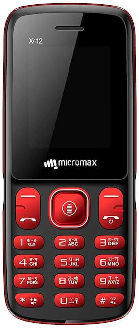 Micromax X412 (Black & Red)