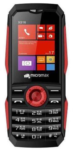 Micromax X516 Dual SIM (Black & Red)