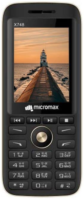 Micromax X748 Dual Sim Black Gold
