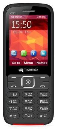 Micromax X742  Black;Red