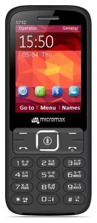 Micromax X742 Dual Sim Black