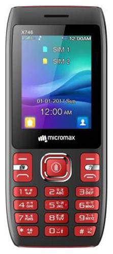 Micromax X746 Dual Sim Black & Red