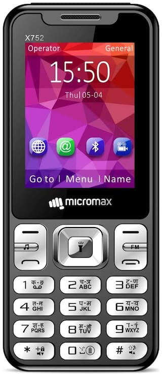 Micromax X752 (Black;Red)
