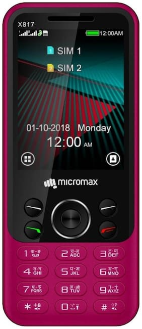 Micromax X817  Dual Sim (Black ,  Maroon)