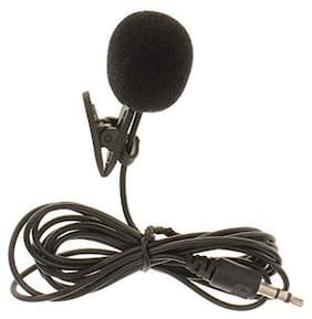 Mini Collar Mic 3.5mm Microphone, Collar Tie Mic 2m Cable Length for Laptops PC & Mobiles-Black