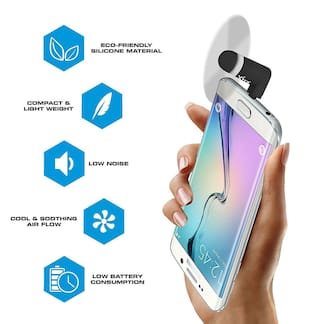 Mini Fan with Micro Pin for Android Devices with OTG Support USB Fan for All Android Smartphones Samsung, LG, Sony, Micromax, Oppo, Vivo, Oppo (ASSORTED COLOR)