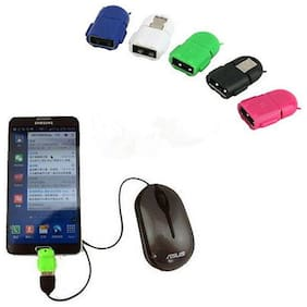 Mini Robot Android Micro USB to USB OTG Adapter Converter For Phone Tablet Mouse