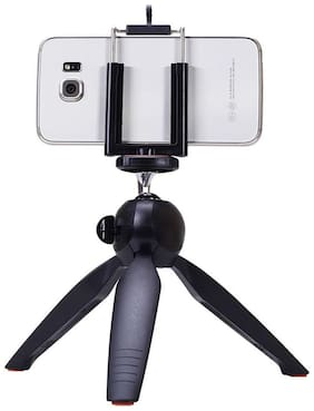 Mini Tripod For Digital Camera & All Android Iphone samsung Lenovo Micromax Oppo Vivo Moto One Plus Xiaomi - Black