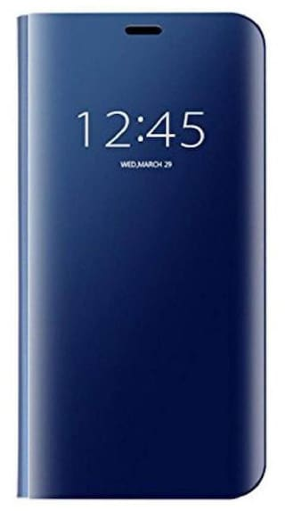 online store 63868 43532 Mirror Flip Cover Semi Clear View Smart Cover Phone S-View Clear, Kickstand  FLIP Case for Samsung Galaxy S6 Edge Blue(Sensor flip is not Working)