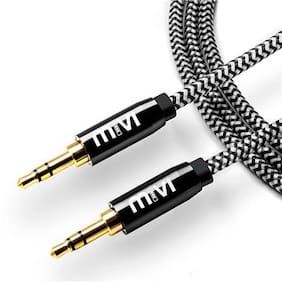Mivi AC6B Aux Cable For Headphones, Mobile phones, Home, Car stereos  (Black)
