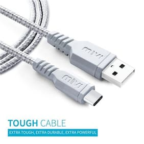 Mivi TC3B2-SL USB Data Cable For All smart Phone (Silver)