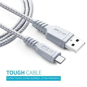 Mivi UC3B-SL USB Data Cable For All smart Phone (Silver)