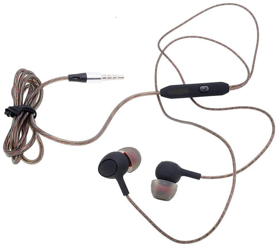 Mobality Samsung galaxy J8 In Ear Wired Headphone   Brown
