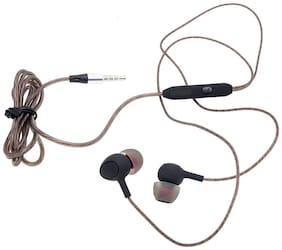 Mobality For Oppo Realme 2 Pro In-Ear Wired Headphone ( Brown )