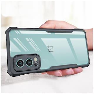 MOBIKIT Back Cover for Oneplus Nord 2  Transparent Hybrid Hard PC Back TPU Bumper Impact Resistant Case (Black, Transparent)