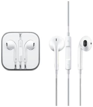 Mobile adda Earphone All Vivo Phones In Ear Wired Earphones With Mic In-Ear Wired Headphone ( White )