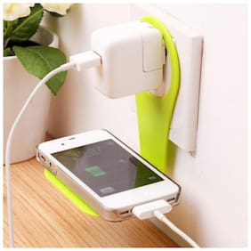 Mobile Phone Holder Wall Charger Adapter Charging Hanging Holder Stand for Home