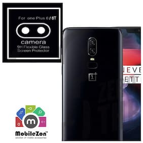 MobileZon OnePlus 6T Back Camera Lens Guard 9H Flexible Glass Protector Cover Black