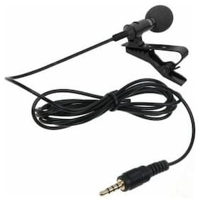 MOBONE 3.5mm Clip Microphone For Youtube, Collar Mike For Voice Recording, Lapel Mic Mobile, Pc, Laptop, Android Smartphones, Dslr Camera
