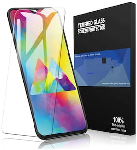 MODIK 0.3mm Tempered Glass for Samsung Galaxy M10 - Transparent (Slightly Smaller Due to Curved Edges) -Pack 1