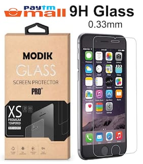 MODIK Tempered Glass Screen Protector Guard for Apple iPhone 6/6S [Pack 2]