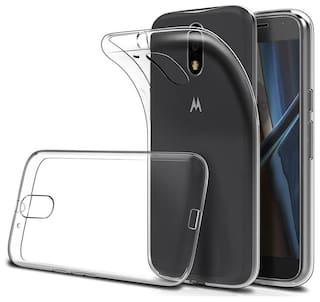 new product 230ad a632e Moto G4 plus Transparent Back Cover