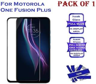 Motorola One Fusion Plus Edge To Edge, Full Glue 11D Tempered Glass (Pack of 1)