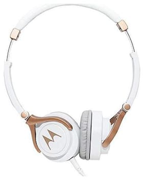 Motorola Pulse 3 with alexa On-ear Wired Headphone ( White )
