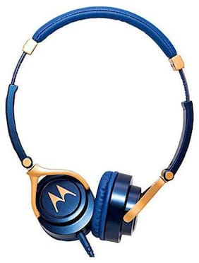 Motorola Pulse 3 with alexa On-ear Wired Headphone ( Blue )