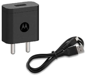 Motorola SJSC44 10W Rapid Charger with Micro USB Cable- Black