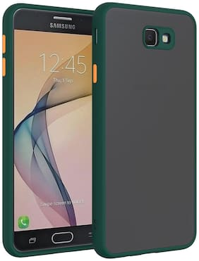 MPE Rubber Back Cover For Samsung Galaxy J7 Prime ( Green )