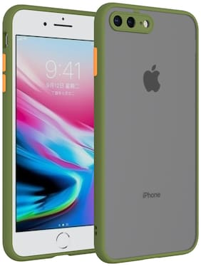 MPE Rubber & Plastic Back Cover For Apple iPhone 7 Plus ( Green )