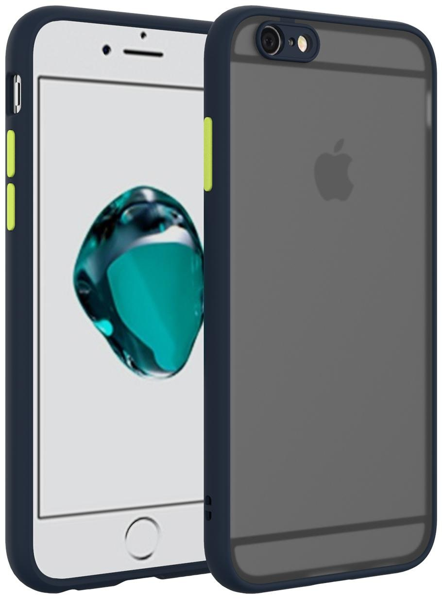Apple iPhone 6s Plus Rubber   Plastic Back Cover By MPE   Blue   by Worthkart Enterprises