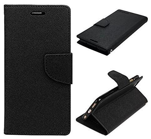 MPE Leather Flip Cover For Apple iPhone 7 Plus   Black