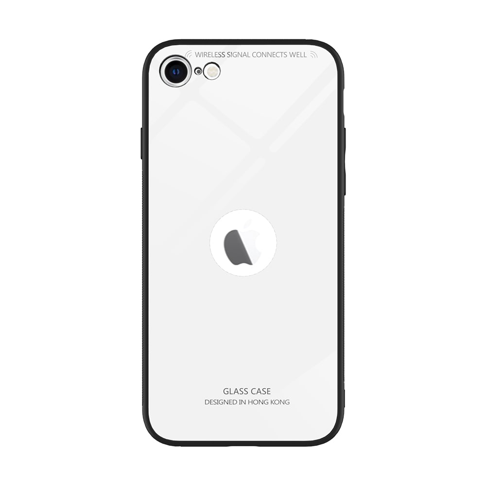 MPE Glass   Rubber Back Cover For Apple iPhone SE 2020   White   by Worthkart Enterprises