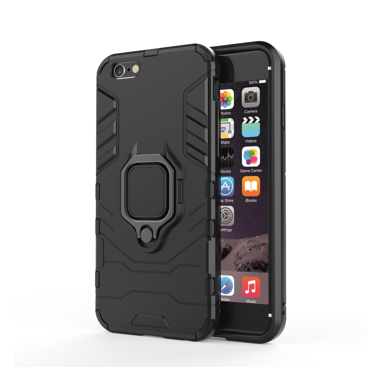 MPE Plastic Back Cover For Apple iPhone 6   Black