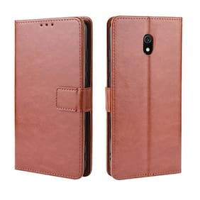 MPE Leather Wallet Flip Cover For Nokia 3 (Brown)