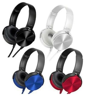MS TRADING COMPANY XB-450 Over-Ear Wired Headphone ( Assorted )