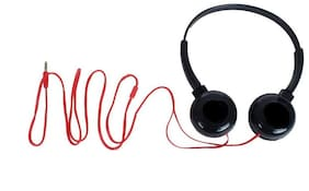QUXXA HP-1080 Over-Ear Wired Headphone ( Black & Red )