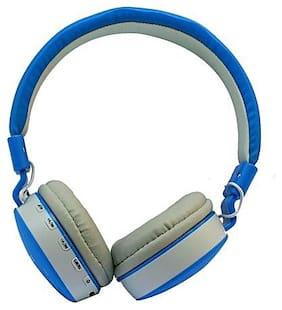 QUXXA On-Ear Wired Headphone ( Blue )