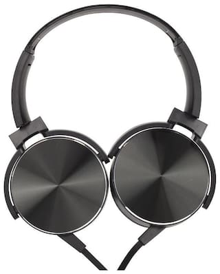 QUXXA XB-450 Over-Ear Wired Headphone ( Black )
