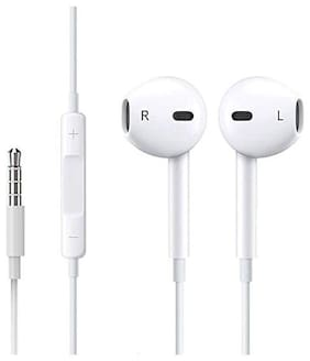 MSTC Earphones for Oppo A37/F, A57, A71, Neo 7/5, R1, A83 (White, 3.5 mm)