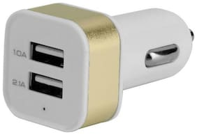 MSTC Hi-Speed ( 12- 24 Volts ) 2 USB Port Universal Car Charing Adaptor ( 2.1A/ 2.0A/ 1.0A ) For Android, Apple, Etc