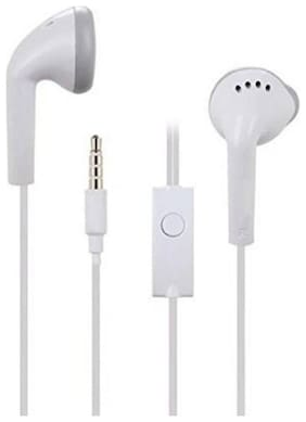 MSTC YS Handsfree Earphone 3.5mm Jack with Mic Compatible for All Samsung Smartphones-White